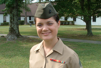 Each year Suzanne donates income from her readings to charity in memory of her step-daughter, Sergeant Susan Marie Giesemann (pictured above).